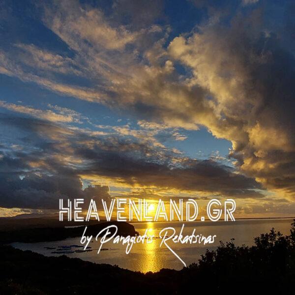 Ηλιοβασίλεμα Συννεφιασμένο Αμβακικός Κόλπος Χ21
