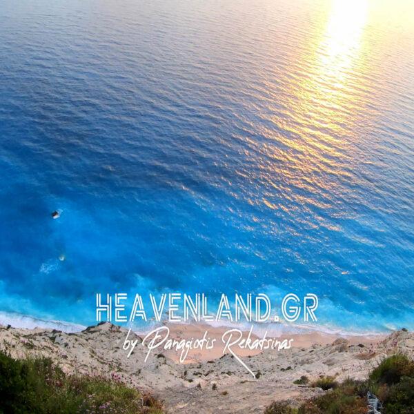 Εγκρεμνοί Παραλία Λευκάδα Ηλιοβασίλεμα Κ21